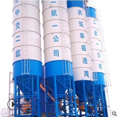 厂家供应大容量不锈钢储存设备 干粉砂浆储料罐 加固整体水泥罐